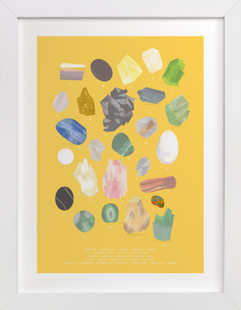 ABC Rocks Children's Art Print