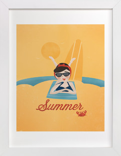 Sun and Surf Children's Art Print