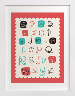 Alphabet Friends Children's Art Print