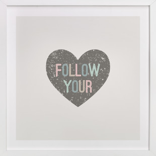 Follow your Heart Children's Art Print