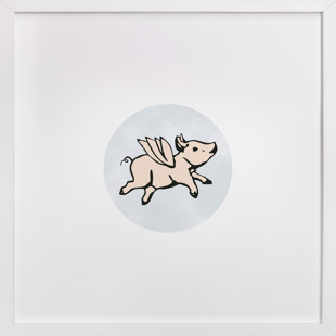 When Pigs Fly Children's Art Print