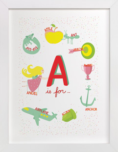 A is For Children's Art Print