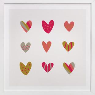 Heart Party Children's Art Print