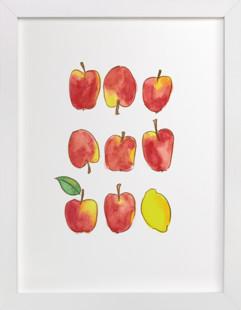 Apples and a Lemon Children's Art Print