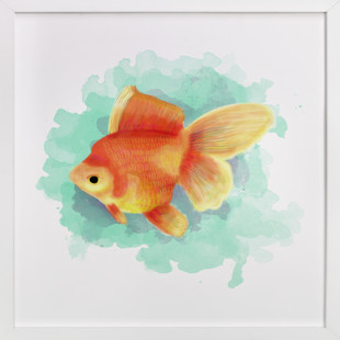 Golden Fish Children's Art Print