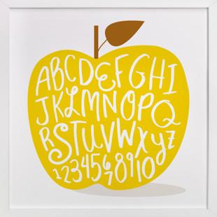 Apple ABCs Children's Art Print