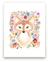 Sweet Floral Fox