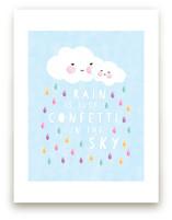 confetti rain drops