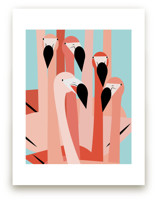 The Flamingos Are Stari... by Marie Hermansson