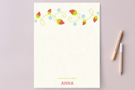 Sweet Notes Children's Stationery