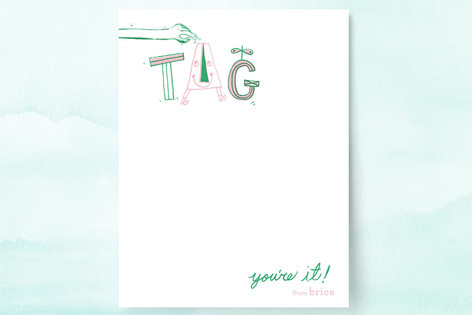 Tag, You're It! Children's Stationery