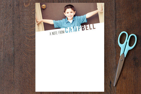 See Through Name Children's Stationery