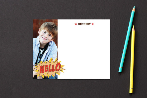 Comic Book Kid Children's Stationery