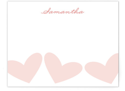Sweet Hearts Children's Personalized Stationery