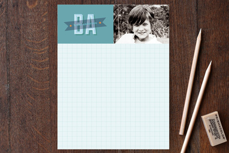 Graph Paper Children's Stationery