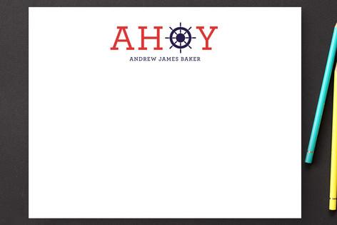 Ahoy Children's Stationery