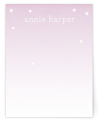 Stars for Annie Children's Personalized Stationery