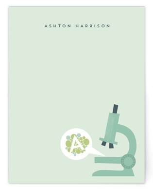 Microscopic Children's Personalized Stationery