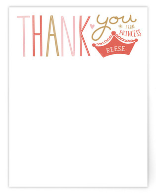 Miss Princess Children's Personalized Stationery