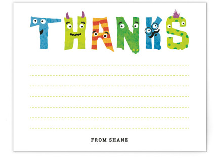 Monster Mash Children's Personalized Stationery
