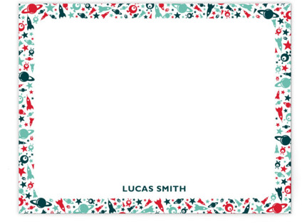 Spaceland Children's Personalized Stationery