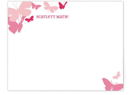 Butterfly Gathering Children's Personalized Stationery