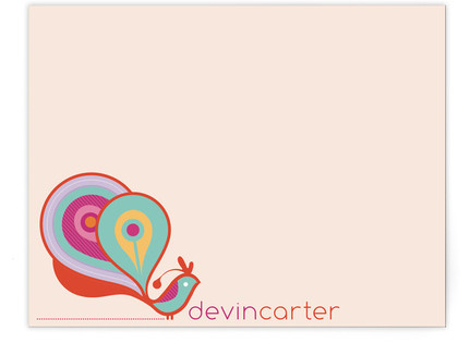 Peacock Children's Personalized Stationery