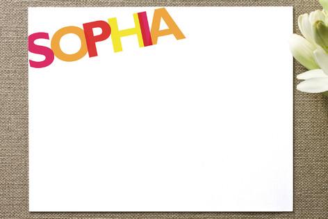 Sophia Children's Stationery