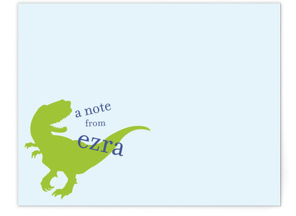 T-Rex Children's Personalized Stationery