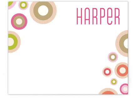 Round Knit Children's Personalized Stationery
