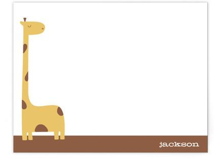 jack the giraffe Children's Personalized Stationery