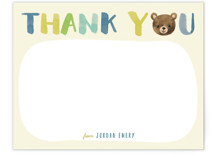 Little Bear Thank You by Four Wet Feet Studio