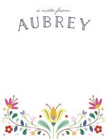 Folk Florals Children's Personalized Stationery
