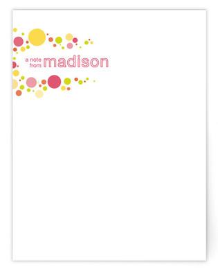 pop dot Children's Personalized Stationery