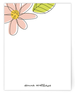 Blossom Children's Personalized Stationery
