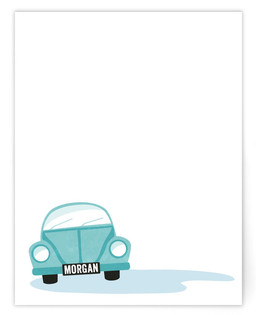 Mister Motor Children's Personalized Stationery