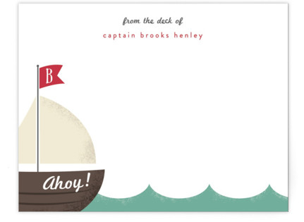 Ahoy! Children's Personalized Stationery
