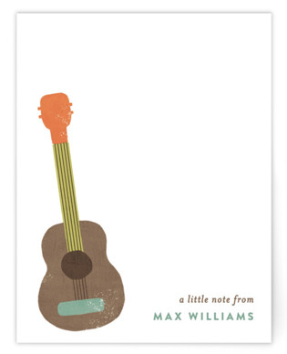 Guitar Children's Personalized Stationery
