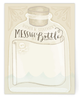 Message In A Bottle Children's Personalized Stationery