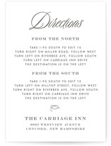 Tied the Knot Letterpress Directions Cards
