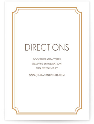 Modern Classic Letterpress Directions Cards