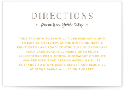 A Fresh Start Letterpress Directions Cards