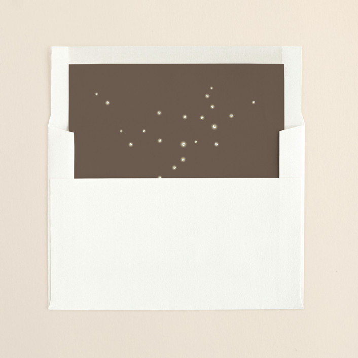 """""""Fireflies"""" - Whimsical & Funny, Whimsical & Funny Slip-in Envelope Liners in Zuni Brown by cadence paige design."""