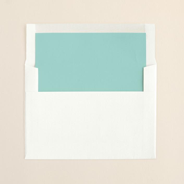 """Winter Flourish"" - Formal Slip-in Envelope Liners in Sky Blue by annie clark."