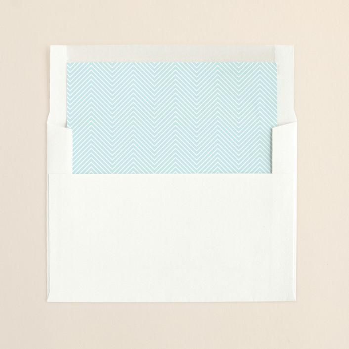 """Charming Go Lightly"" - Vintage, Modern Slip-in Envelope Liners in Pool Blue by danielleb."