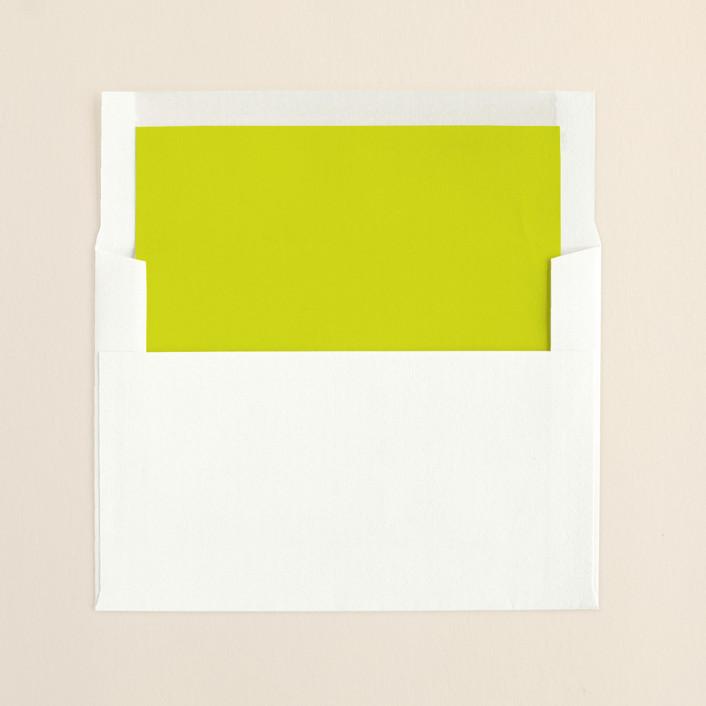 """""""Infinite"""" - Formal Slip-in Envelope Liners in Bright Lime by The AV Design Factory."""