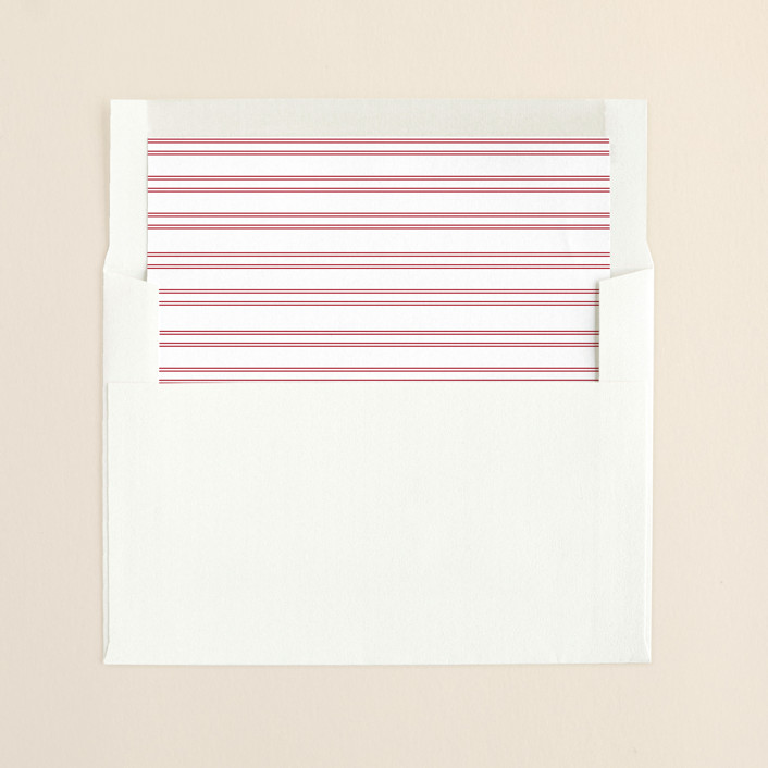 """French Vintage"" - Formal, Formal Slip-in Envelope Liners in Ruby by annie clark."