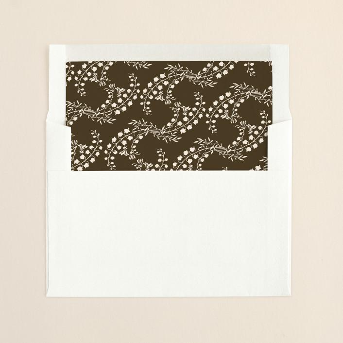 """""""Story Book"""" - Vintage, Floral & Botanical Slip-in Envelope Liners in Dark Chestnut by Jody Wody."""