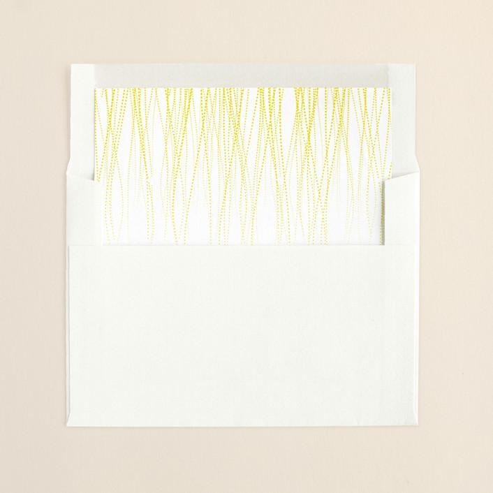 """Goldshine"" - Formal, Formal Slip-in Envelope Liners in Lemon Zest by Lisa Samartino Design."