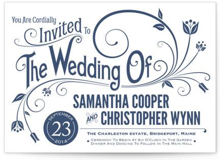 Vintage Blush Letterpress Wedding Invitations